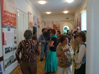 Ausstellung mit Publikum